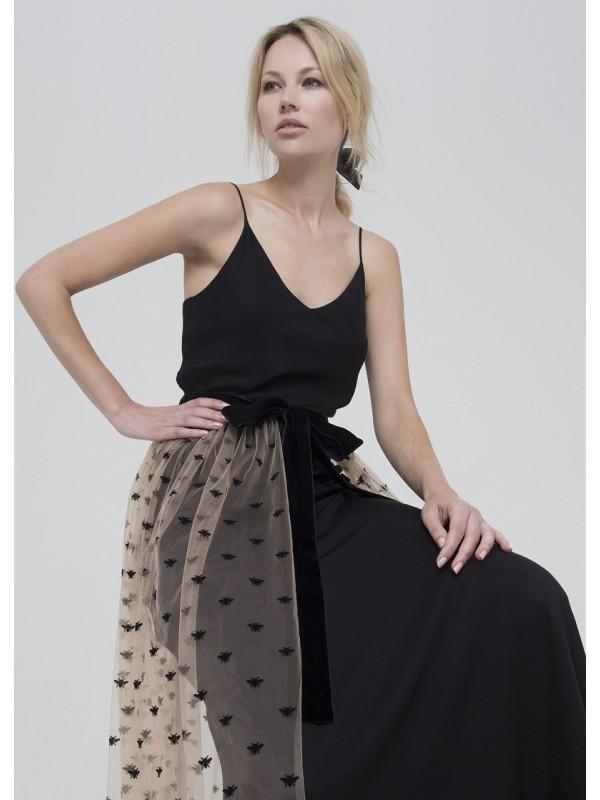 Czarna spódnica tiulowa Selezza – Adventure Fashion